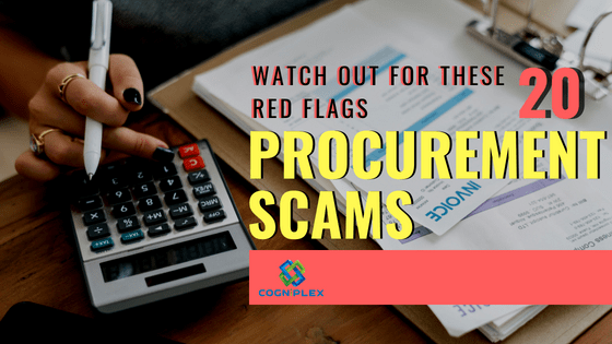 HOW TO IDENTIFY A POTENTIAL PROCUREMENT SCAM